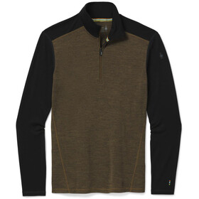 Smartwool Merino 250 Pattern 1/4 Zip Baselayer Boxed Men, military olive heather/black